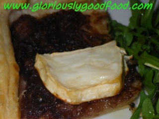 Caramelised Red Onion and Goats Cheese Tart