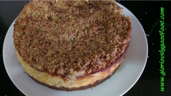 Food Glorious Food Recipes | Rhubarb and Ginger Crumble Cheesecake