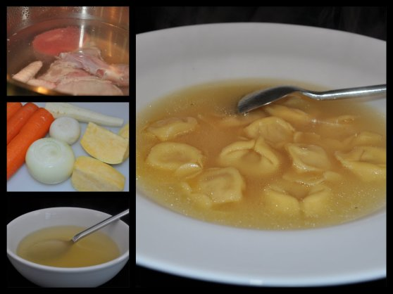 Chicken Stock | Brodo di Gallina | Hen Stock | Hen Broth | Chicken Broth | Tortellini in Brodo