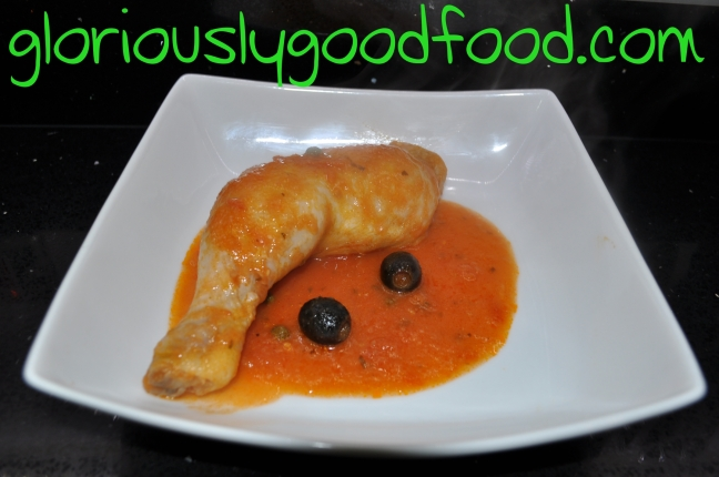 chicken with james martin rustic tomato bread and basil soup sauce | chicken in tomato olives and capers