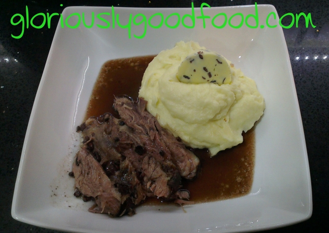 Slow-cooked Lamb in Red Wine and Cocoa Nibs | White Chocolate Mash