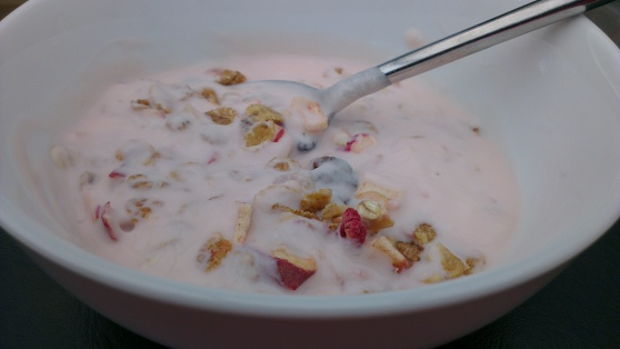 Dorset Cereals with Raspberry Yoghurt