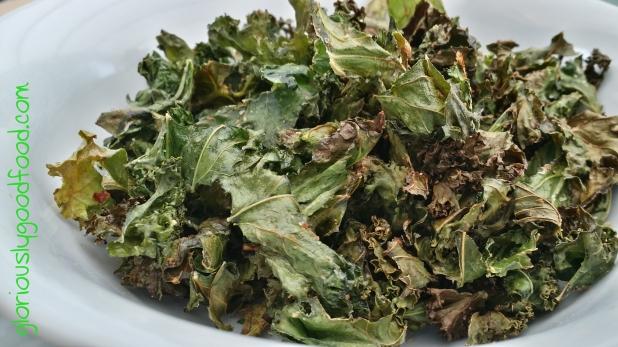 curly kale crisps | curly kale