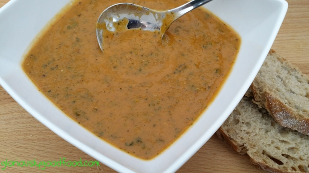 Roasted Courgette and Sweet Pepper Soup | Low Fat Courgette and Pepper Soup | Reflux Recipe