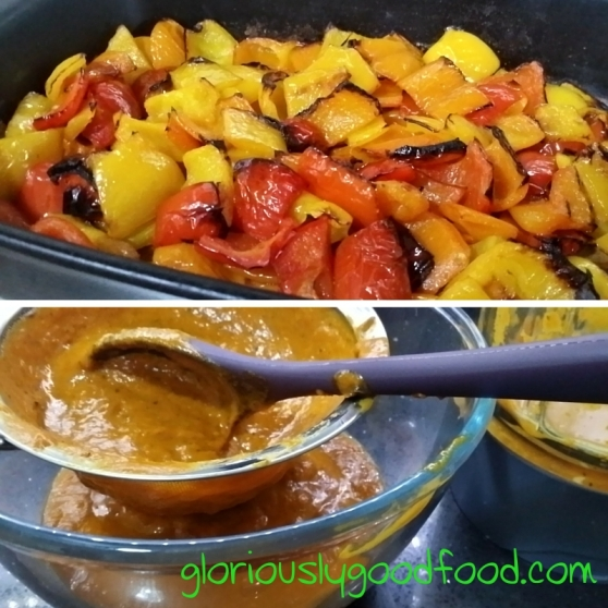 Roasted sweet pepper sauce | Stages of cooking