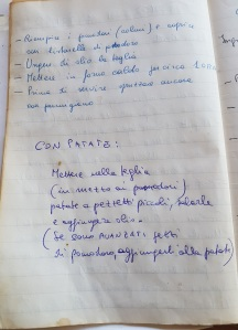 rice-stuffed tomatoes with potatoes - hand-written recipe pg2