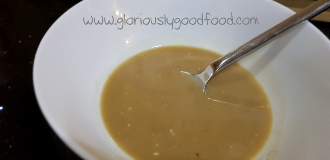 lentil soup with a hint of bacon and melted cheese | bariatric surgery liquid diet