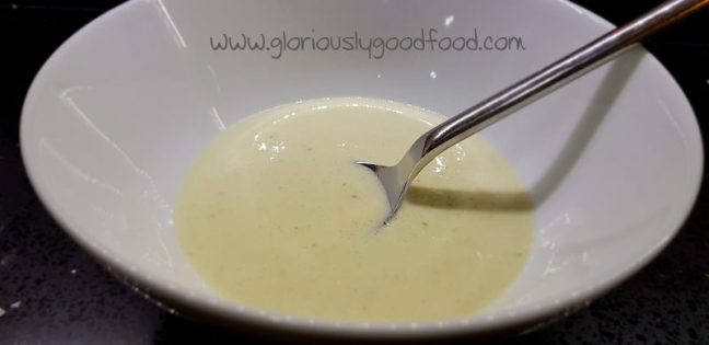 Creamy smoked salmon and dill soup