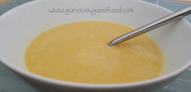 rich spicy chicken and sweetcorn soup