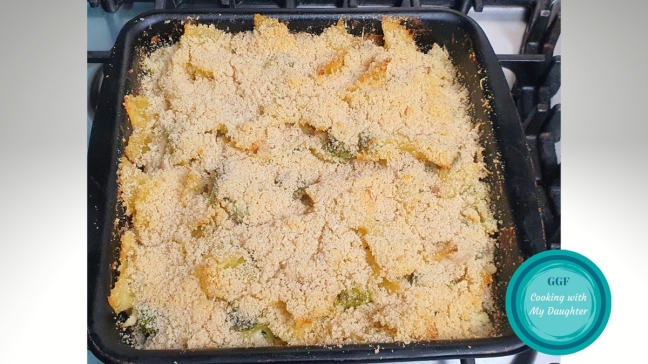 Chicken and Broccoli Pasta Bake cooked