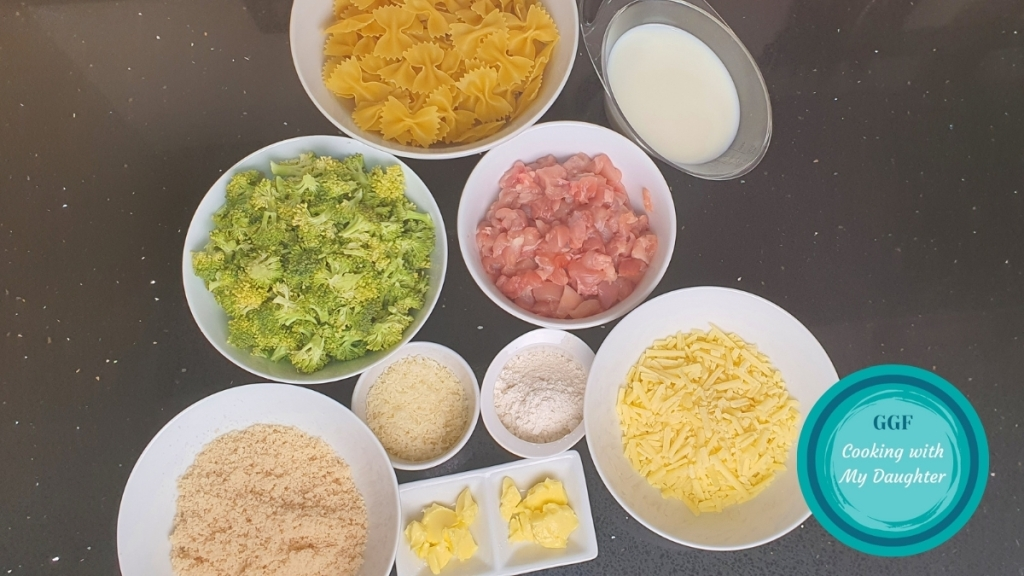 Chicken and Broccoli Pasta Bake Ingredients